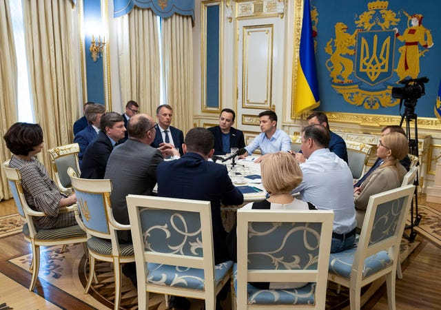 Mr Zelenskiy meeting with MPs in Kiev