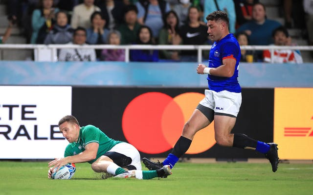 Ireland went on to beat Samoa with ease