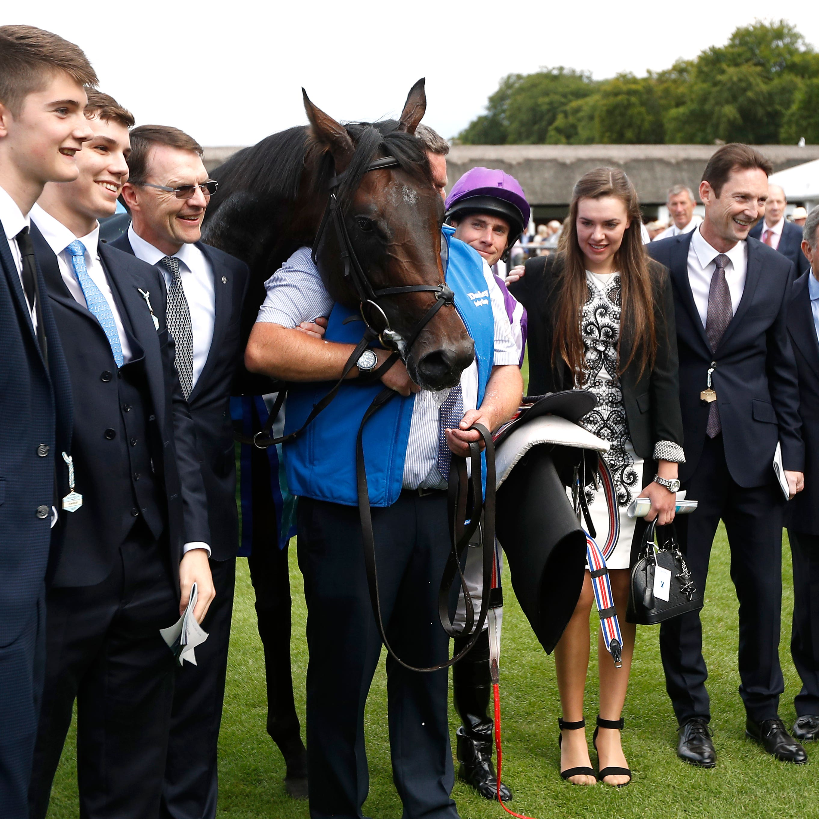 The Ten Sovereigns team following his July Cup success