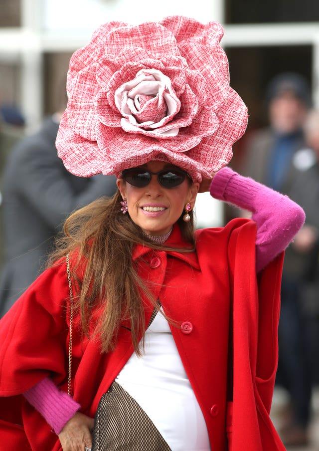 Tracy Rose during Ladies Day of the 2019 Cheltenham Festival at Cheltenham Racecourse.