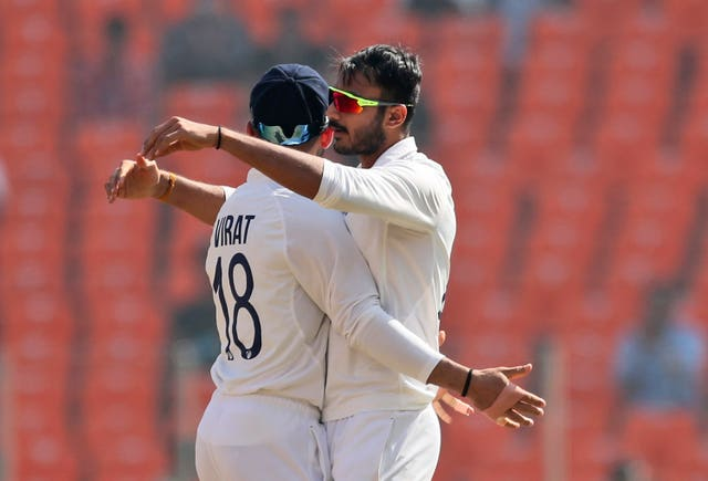 Axar Patel, right, did the early damage