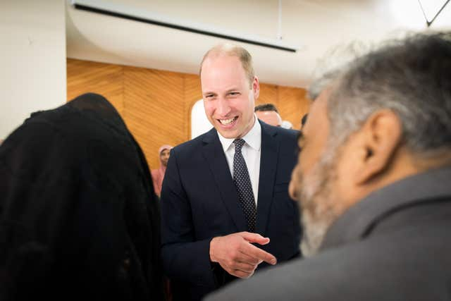 William visits Christchurch attack mosque