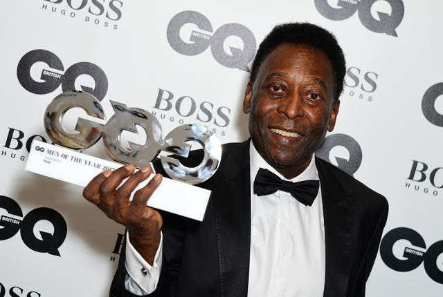 Pele with his Inspiration award during the GQ Men of the Year Awards 2017