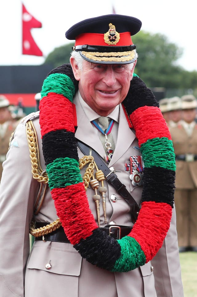 Prince of Wales visiting the Gurkhas