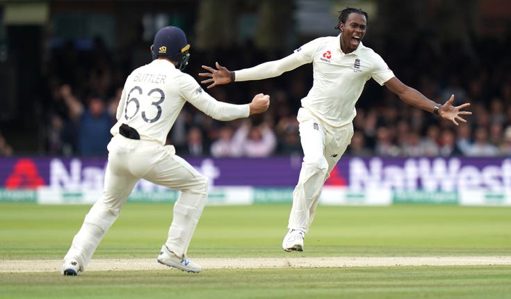 Jofra Archer took the wickets of David Warner and Usman Khawaja