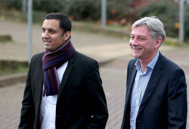 Anas Sarwar (left) and Scottish Labour leader Richard Leonard (Jane Barlow/PA)