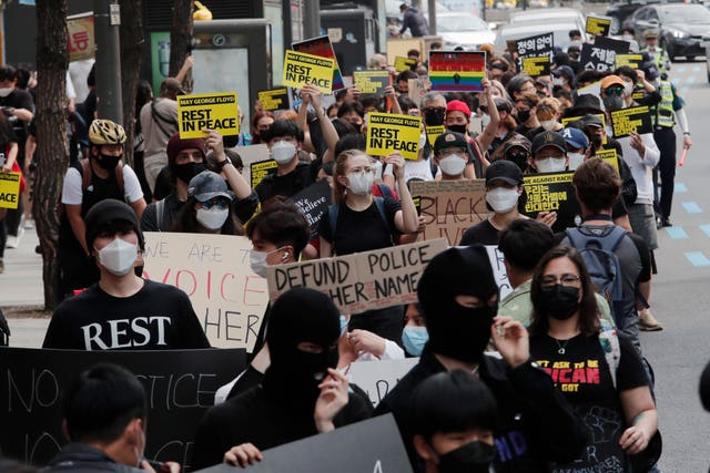 America Protests Global South Korea