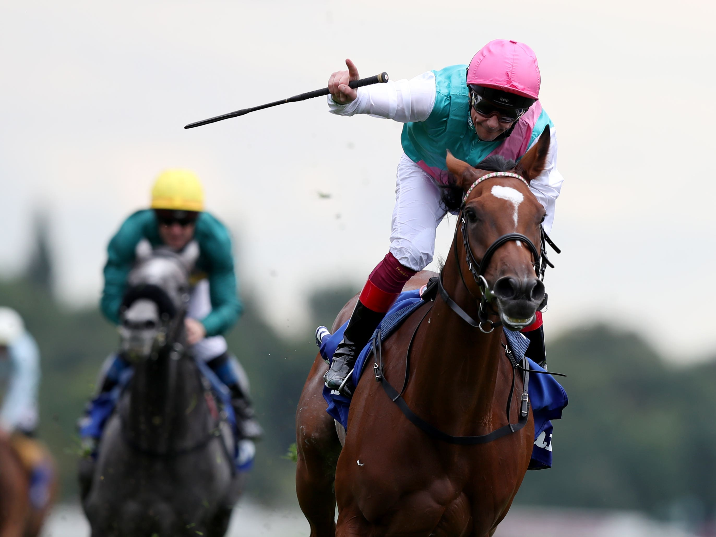 Enable wins the Yorkshire Oaks under Frankie Dettori (Simon Cooper/PA)