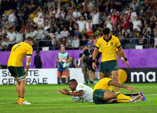 Australia pulled to within one point thanks to Marika Koroibete's try but Kyle Sinckler restored England's advantage in the 46th minute