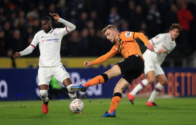 Hull's Jarrod Bowen in action against Chelsea