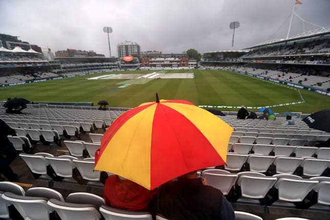All of the first day of the second Test was washed out at Lord's