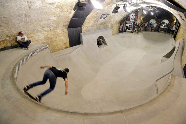 A general view of the House of Vans skateboard park under Waterloo Train Station in central London