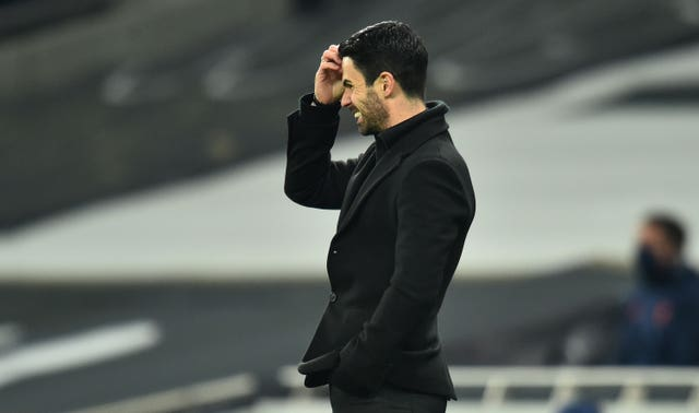 Arsenal manager Mikel Arteta saw his side lose to rivals Tottenham last Sunday.