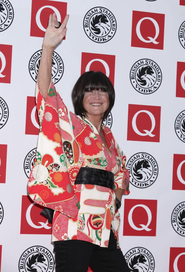 Sandie Shaw said she was proud to be representing women in music upon receiving an MBE (Yui Mok/PA)