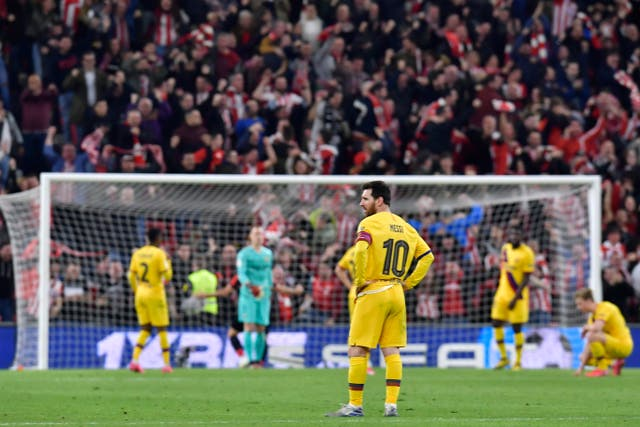 Barcelona were left dejected after Athletic Bilbao's late winner at San Mames