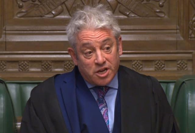 John Bercow responds to a point of order