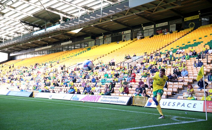 Norwich fans were back in Carrow Road to watch their Sky Bet Championship fixture with Preston as part of seven pilot events in the English Football League this weekend