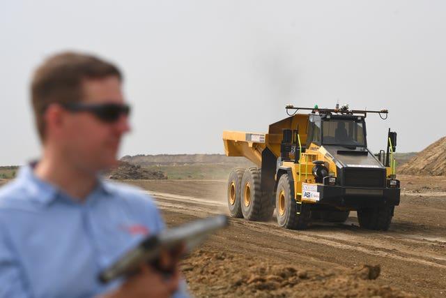 Driverless dump trucks
