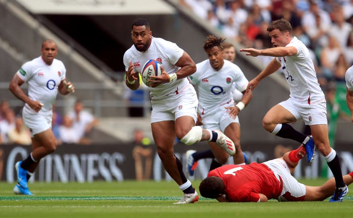 Joe Cokanasiga was among England's try scorers