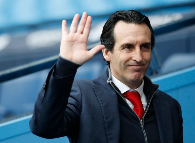 Unai Emery waved goodbye to Arsenal last month
