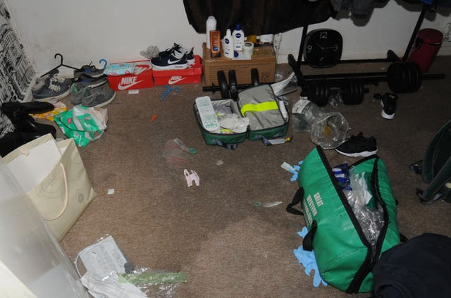 The interior of the home of Alistair Walker and Hannah Henry (Gloucestershire Police/PA)