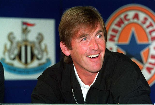 Kenny Dalglish during a Newcastle press conference