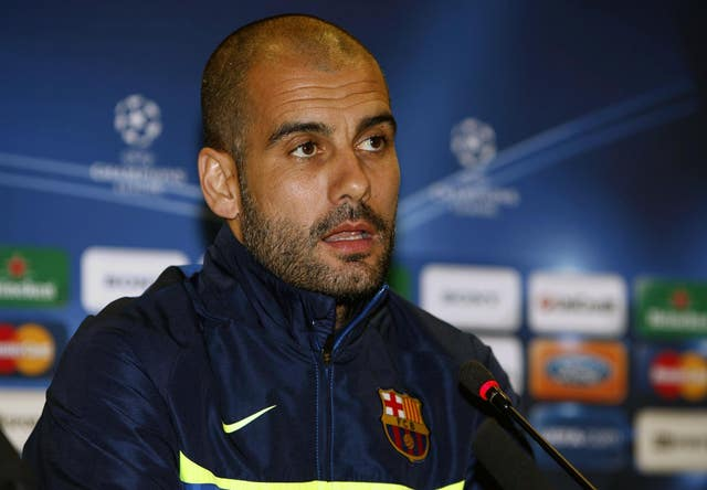 Pep Guardiola during his time as Barcelona coach