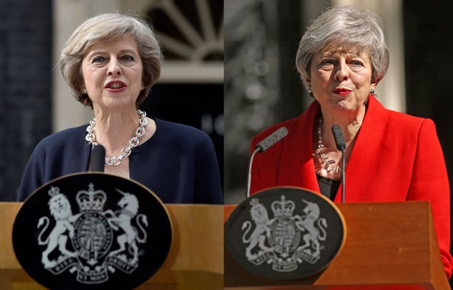 Theresa May combination photo