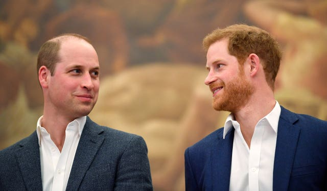 The royal brothers will no doubt be nervous at this point (Toby Melville/PA)