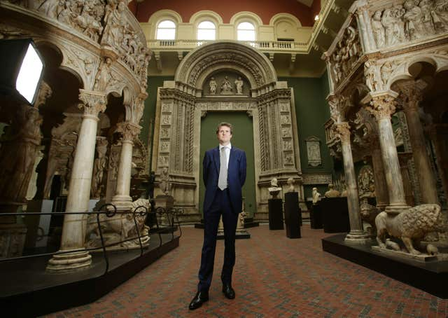 Former Labour MP Tristram Hunt at the V&A in London (Yui Mok/PA)