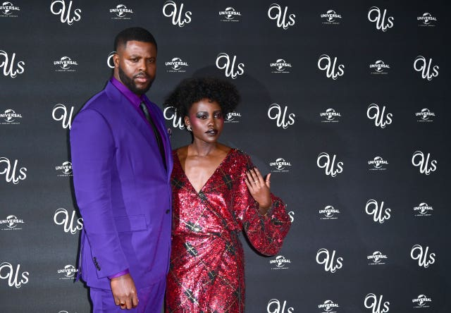 Winston Duke and Lupita Nyong'o