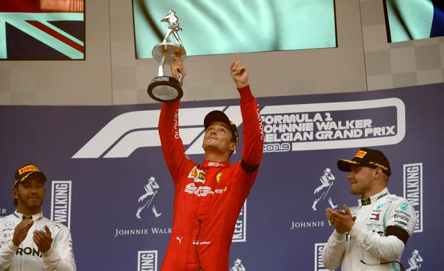 Leclerc dedicated his first win to Hubert