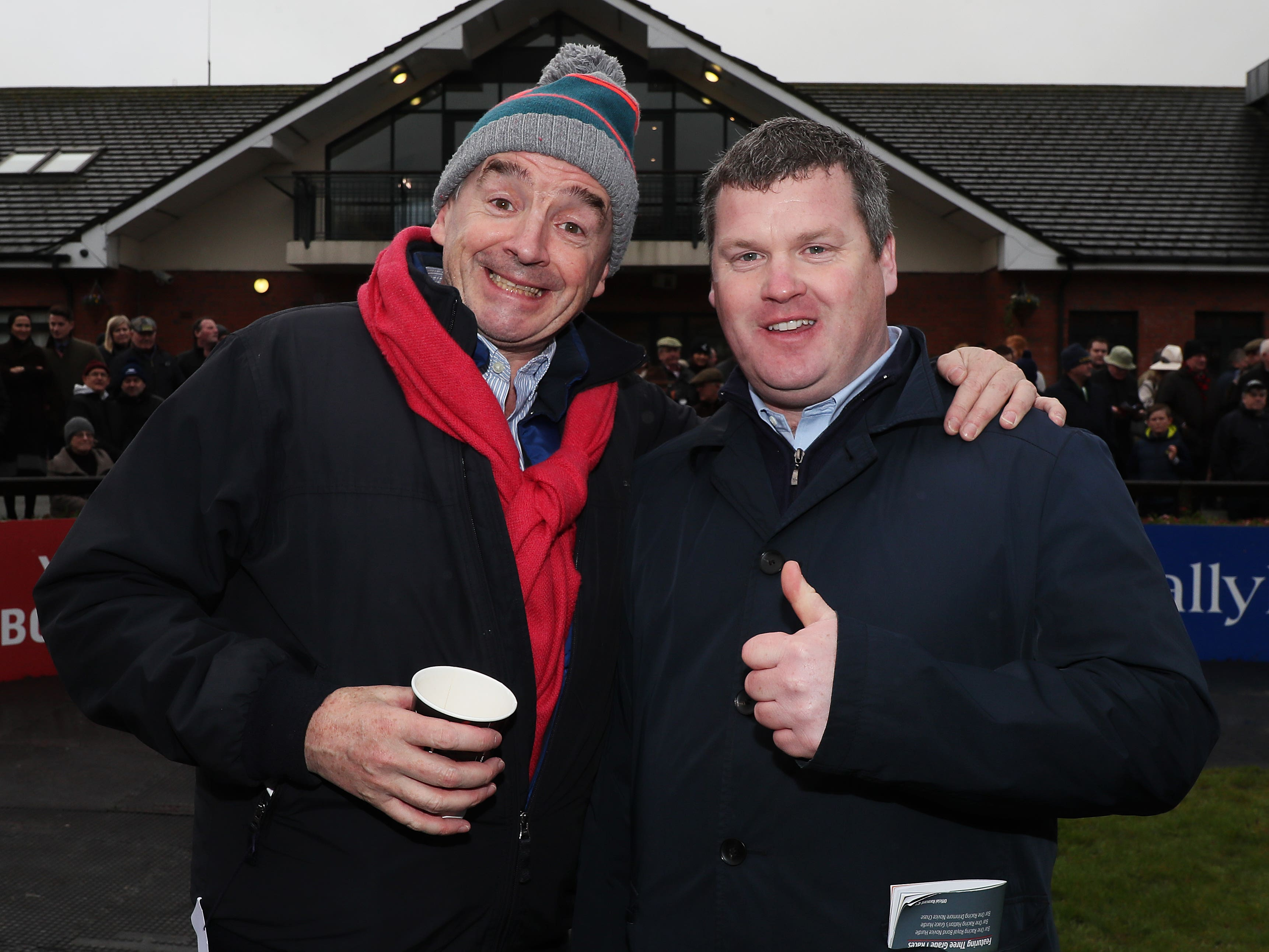 Michael O'Leary (left) and Gordon Elliott have enjoyed a fruitful relationship (Brian Lawless/PA)