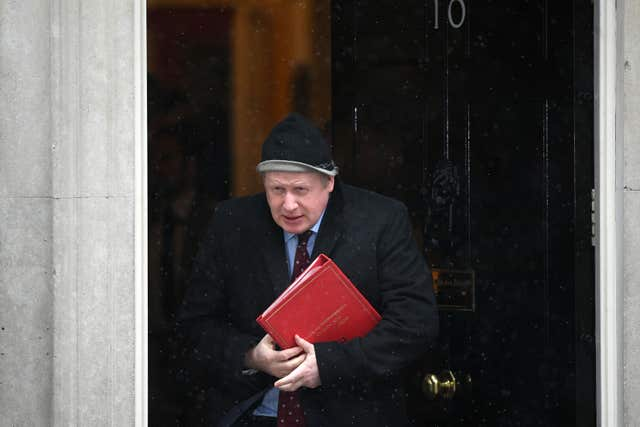 Foreign Secretary Boris Johnson leaves No 10 after the special Cabinet meeting (Victoria Jones/PA)