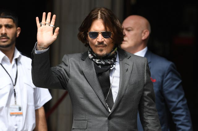 Johnny Depp arrives at the High Court