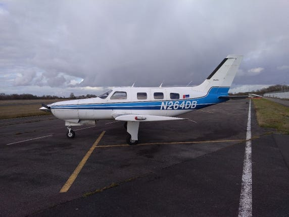 The Piper Malibu aircraft in which Emiliano Sala died