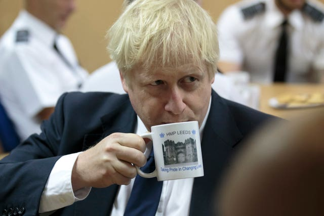 Boris Johnson visit to HMP Leeds