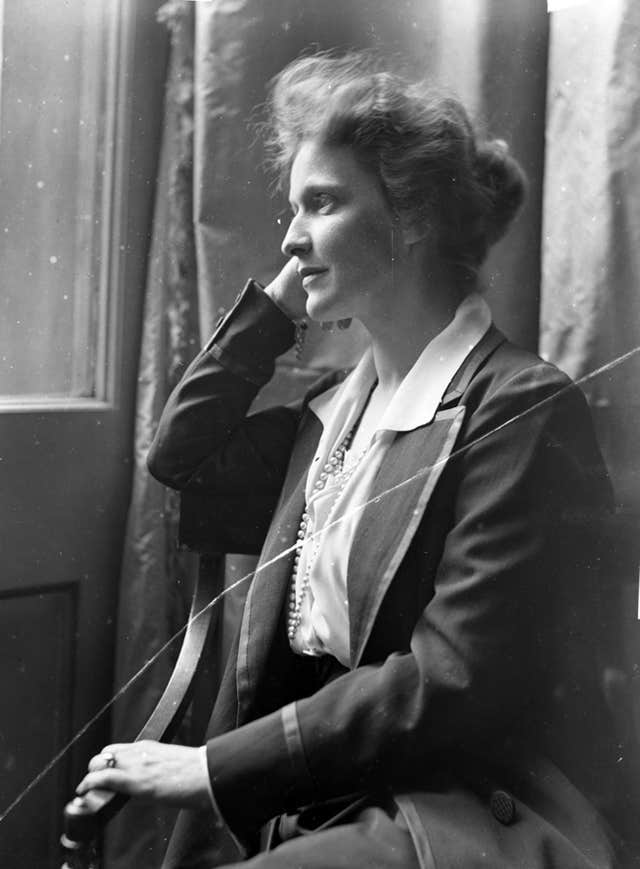 A portrait of Nancy Astor taken by Olive Edis, Britain's first female war photographer (Norfolk Museums Service/Handout)