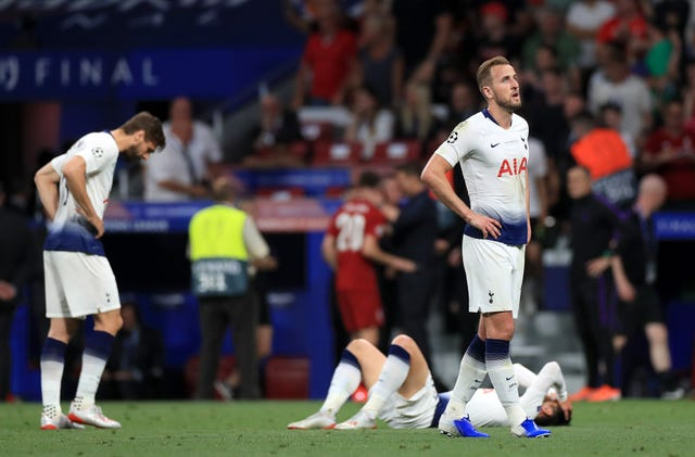 Tottenham's Harry Kane after defeat in the 2018/19 UEFA Champions League Final