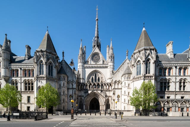 The Royal Courts of Justice (Aaron Chown/PA)
