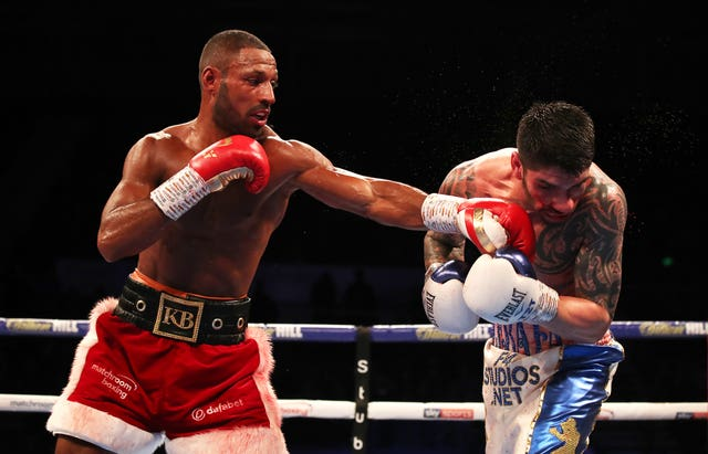 Kell Brook (left) again called out Amir Khan following his victory (Nick Potts/PA).