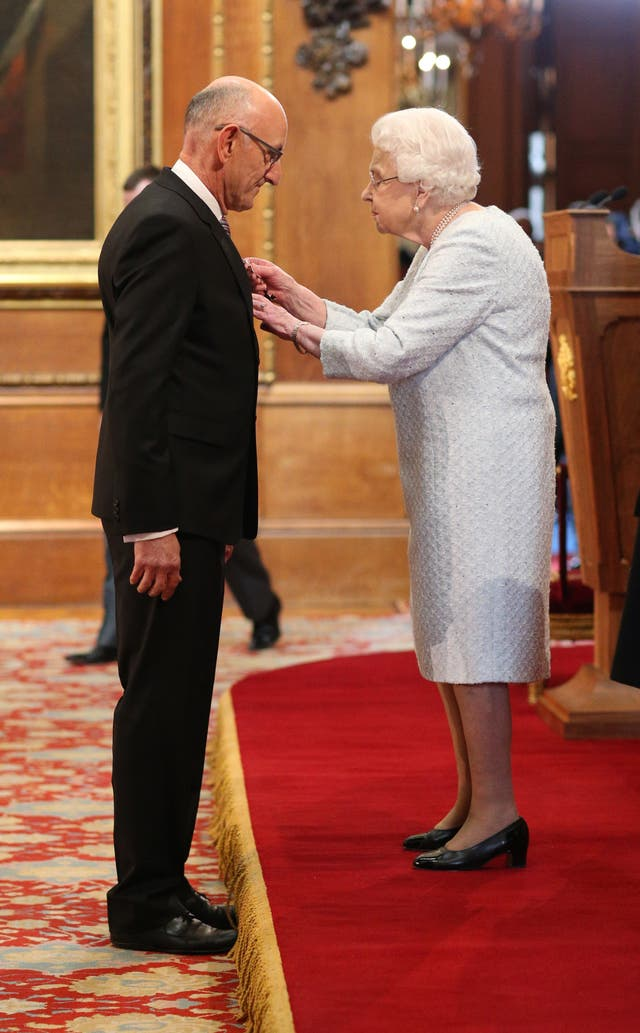 Roger Whiteside receives his OBE