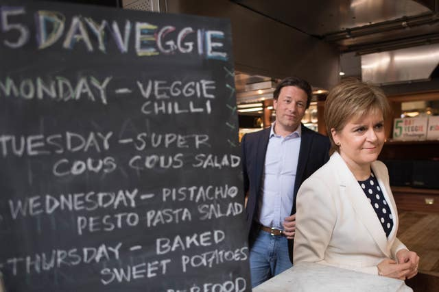 The chef and restauranteur met the First Minister at his offices in north London (Stefan Rousseau/PA)