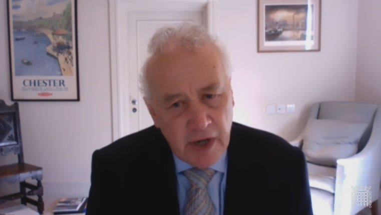 Rick Parry has written to the Government