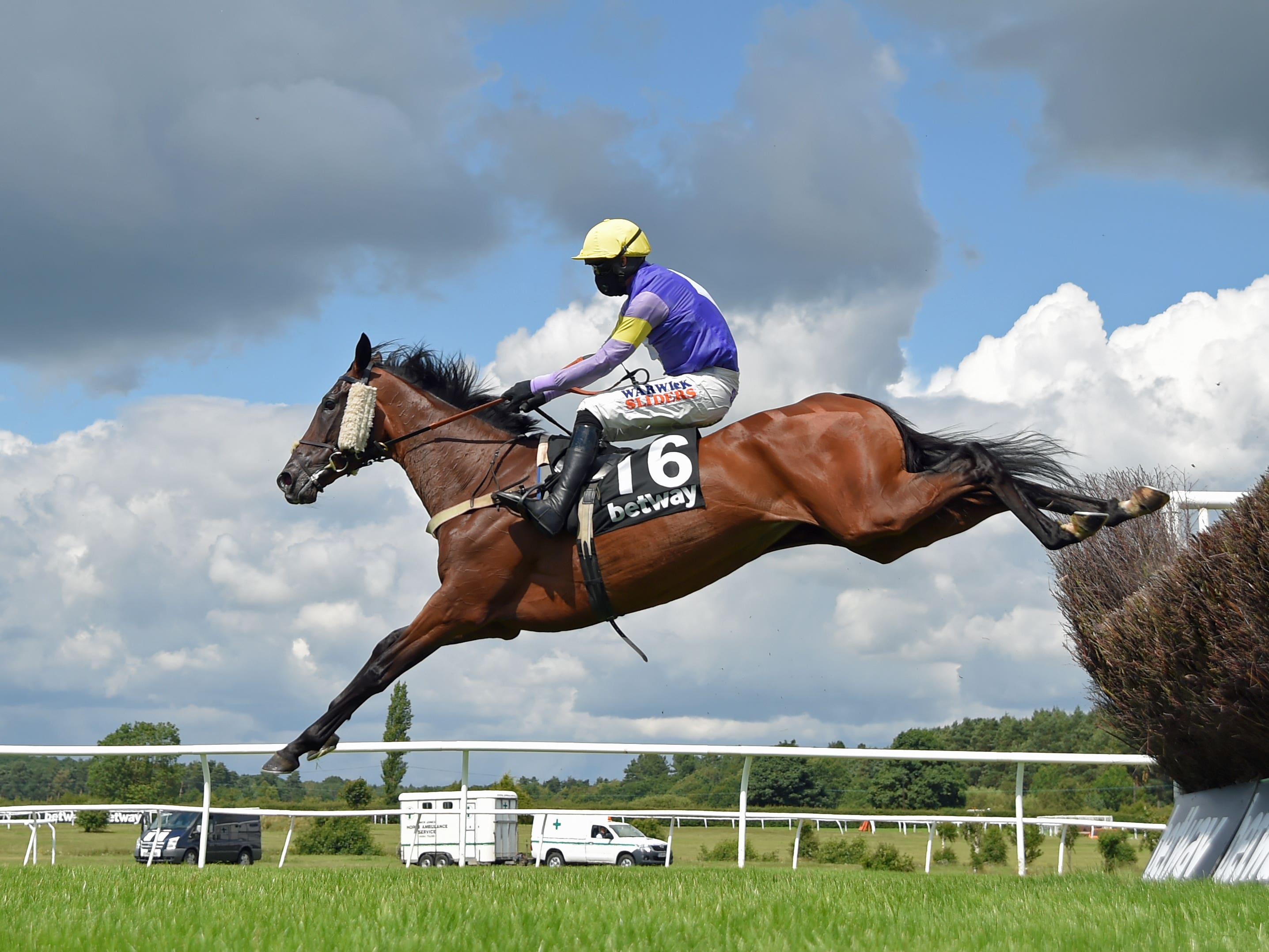 Really Super and Jack Quinlan sail over a fence on their way to winning the Betway Summer Plate Handicap Chase at Market Rasen (Martin Lynch/PA)