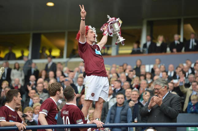 Rudi Skacel was the Hearts hero in 2012