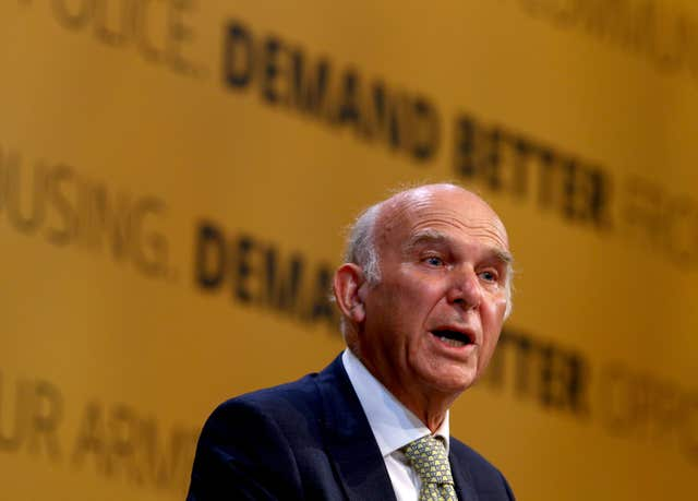 Sir Vince Cable said the only way forward is through a People's Vote (Gareth Fuller/PA)