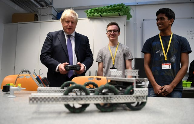 Boris Johnson at the King's College London Mathematics School