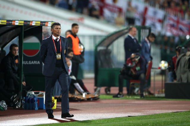 Bulgaria head coach Krasimir Balakov claimed not to hear any racism on Monday night