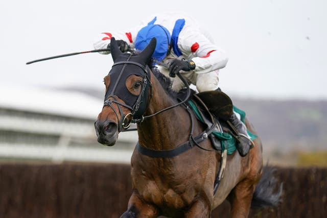 Harry Skelton and Protektorat clear the last for victory at Cheltenham (Alan Crowhurst/PA Images)